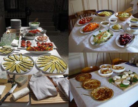 Mittagsimbiss während eines Kurses auf Espace Château DES